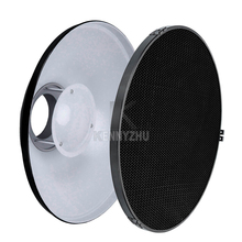 "Photo Studio 42cm/16"" 55cm/22""  White Bowens Mount Beauty Dish + Honeycomb Grid & Soft Diffuser Sock for Flash Strobe"