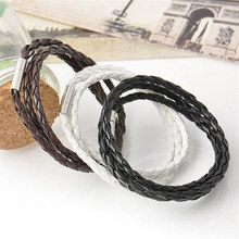 Fashion Jewelry PU Leather Charm Friendship Bracelets & Multilayer Braided Bracelet Jewelry with Magnetic Clasps Charm Bracelet
