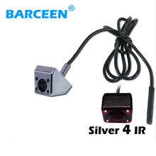 Colorful hd ccd night vision auto car reserve parking camera water-proof IP 69K wire 4 ir lamp glass lens for types of cars(China)