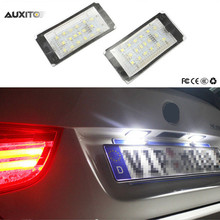 For BMW 3 Series E46 2D M3 1998-2003 Canbus Car LED License Plate Lights 12V White SMD3528 LED Number Plate Lamp Bulb(China)