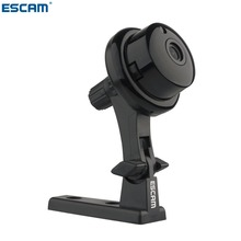 ESCAM Q6 1.0MP Button MINI Camera support WIFI,Two-way voice built-in TF Card Slot,Night Vision Home Security IP Camera(China)