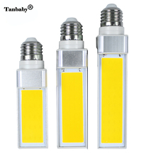 Tanbaby COB LED Bulb 10W 15W 20W E27 LED light lamp 180 degree Corn bulbs White AC85-265V Horizontal Plug Spot downlights(China)