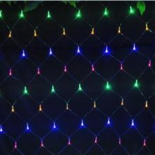 15m15m net lights 6w 96 led net mesh decorative fairy lights twinkle lighting christmas wedding party eu 220 240v free - Netted Christmas Lights