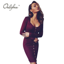 Buy Ordifree 2018 Autumn Women Suede Dress Long Sleeve V Neck Wrap Dress Faux Leather Suede Red Sexy Bodycon Dress for $24.70 in AliExpress store
