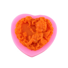 1 pc little baby shape beach Silicone Mold Soap Candle Molds Sugar Craft Tools Chocolate Molds Bakeware(China)