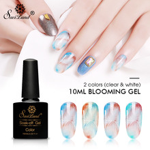 Saviland 10ml White Clear Blooming Gel Nail Polish UV Nail Art Glue Blossom Painting Gel Lacquer Hybird Organic Gel Varnish(China)
