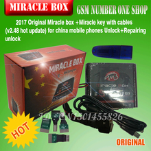 Free ship 2017 Original Miracle box +Miracle key with cables (V2.48 hot update) for china mobile phones Unlock+Repairing unlock