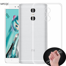 MPCQC For Xiaomi Mi5S Plus Mi4 Mi5 Mi5C Max Mix Redmi 4X 3S Note 2 3 4 Por Case Soft TPU Full body Protective Clear Cover Case