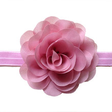 10pcs/pack Layered Chiffon Flower Headbands for Kids, Cute Headbands Red Black White Dusty Pink Yellow Purple Gray
