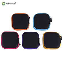 Portable Hard Headphone Case with Zipper/PU Leather Case/Protective Earphone Bag/USB Cable Organizer/Mini arbuds Pouch box