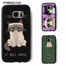 PEIDAN Grumpy Quotes I Had Fun It Was Awful phone for S3 S4 S5 S6 S7 S8 S6 edge S7 edge Note 3 4 5 #B411(China)