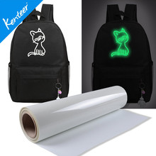 Q8 Kenteer High Quality Golw In Dark Heat Transfer Vinyl For Bag 0.5m*25m/Roll(China)
