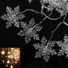 3.5M 96LED Christmas Snowflake Ice Curtain String Fairy Lights Xmas Party Wedding Decor Lighting LED Curtain Light 220V