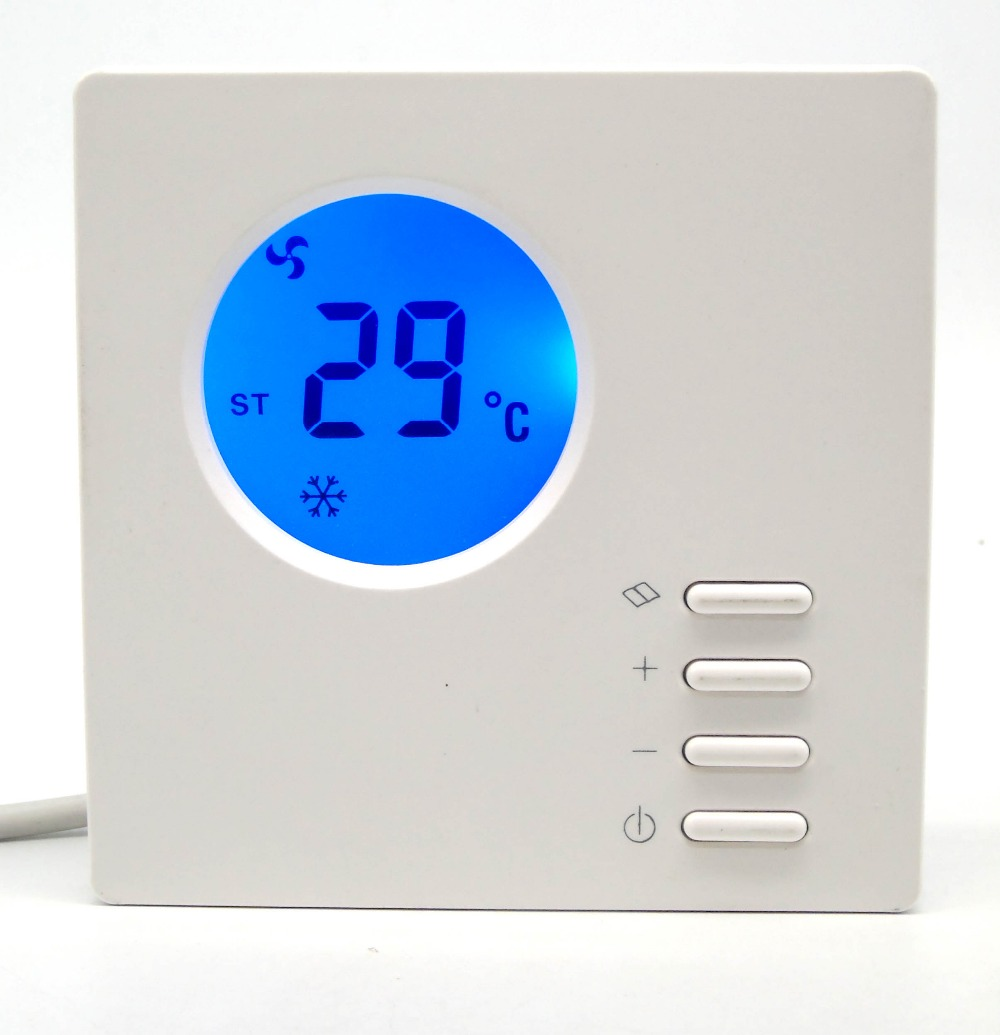Beautiful simple Round Screen LCD digital thermostat Cool /Heat