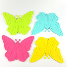 Silicone Cartoon Butterfly Shape Table Mat Can Be Hung Durable Non-Slip Heat Resistant Mat  Cushion Silicone Placemat Baking Pad