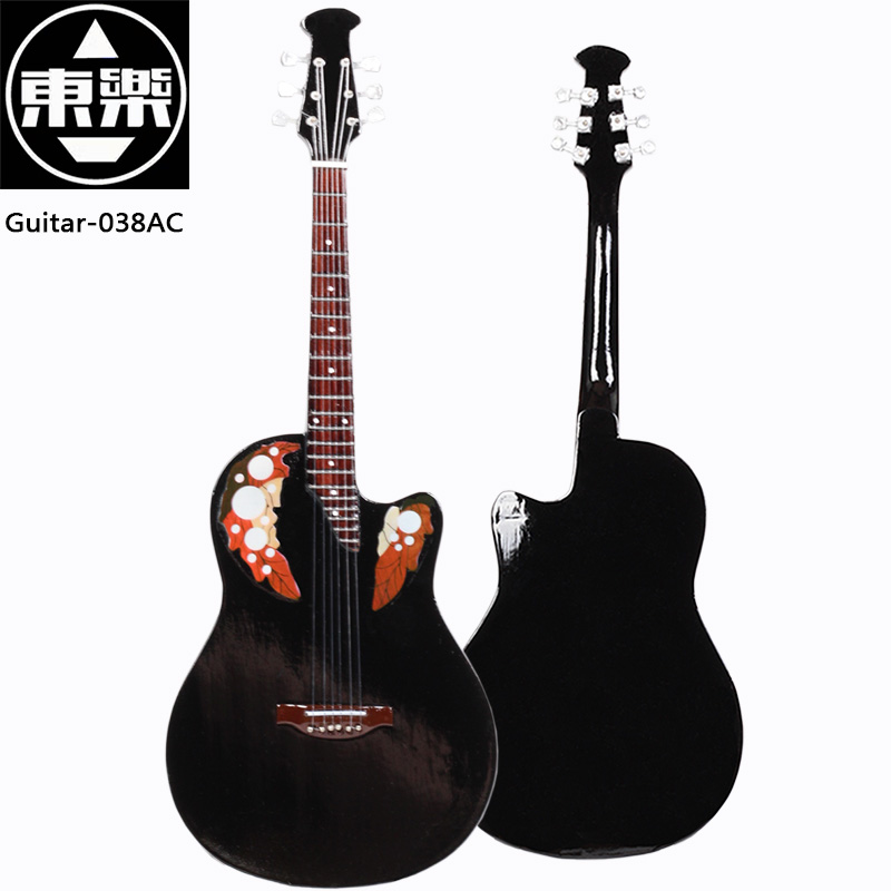 Wooden Handcrafted Miniature Guitar Model guitar-038AC Guitar Display with Case and Stand (Not Actual Guitar! for Display Only!)<br>