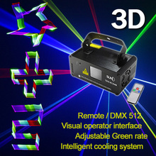 SUNY Remote DMX 3D Effect 400mW RGB Laser Show Lighting TDM-RGB400 Scanner Party Light LED Projector Fantastic Full Color Xmas(China)