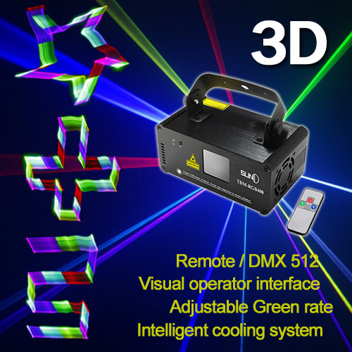 Фотовспышка пульт SUNY DMX с 3D эффектом 400 МВт|rgb laser|laser showfull color |