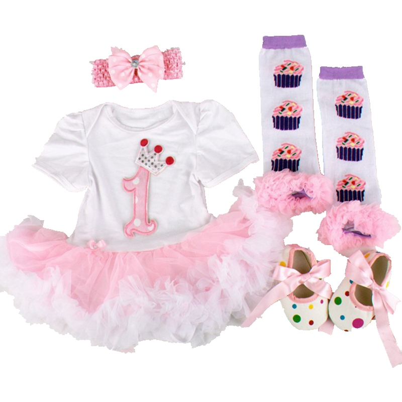 Crown Princess Baby Girl 1st Birthday Outfit Toddler Clothes 4pcs Newborn Tutu Sets Childhood Fantasy Baby Bourn Infant-Clothing<br><br>Aliexpress