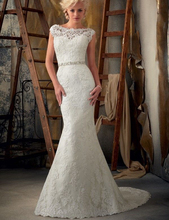 Mermaid White/Ivory Lace Wedding Dress Bridal Gown Stock Size 2 4 6 8 10 12 14 16+ 18W 20W 22W 24W 26W 28W