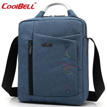 Cool Bell Brand Casual Fashion Bag for iPad Air 2 3 iPad Mini iPad 4 Men Women Tablet Bag 8,10.6,12.4 inch Laptop Messenger Bag(China)