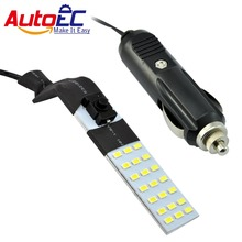 AutoEC LED 21smd 5630 led magnet light emergency lights with car charger for Car Motorcycle dc12v wholesale 10set #LQ367a(China)