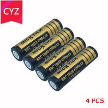 4PCS 3.7V 4200mAh 18650 MICKTICK Battery lithium Li Ion Rechargeable Large Capacity Batteries batteria T6 Flashlight LED