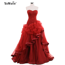 Beach Burgundy champagne Ivory Red Pleat silk tulle Mermaid Bridal Gown Sweetheart Ruffles Wedding Dress 2015