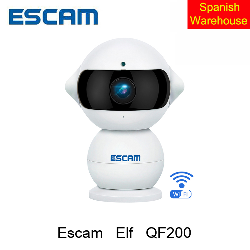 Escam Elf QF200 wireless IP Camera HD 960P 1.3MP Indoor Infrared Day/Night Vision 360 Degree Rotation Alarm Security CCTV Camera<br><br>Aliexpress