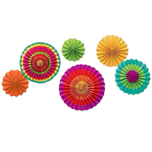 6 PC/ Set Colorful High Quality Tissue Paper Fans Party Wedding Birthday Hanging Fiesta Paper Fan Decorations Happy Gifts