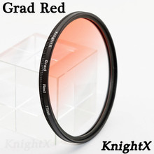 KnightX Grad red 49 52 55 58 62 67 72 77 lens filter for Sony Canon Nikon photography lentes para 700d d300 dslr d750 a55 lentes(China)