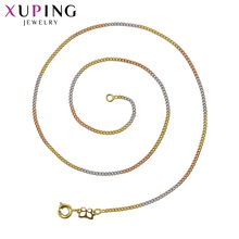 Xuping Fashion Temperament Necklace Charm Style Long Necklace High Quality Hot Sell Chain Jewelry Black Friday Gifts S69,5-42111(China)