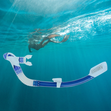1pc Silicone Diving Snorkel Mouthpiece Swimming Tube Center Full Dry Air Breathing Snorkel Underwater Scuba Tube High Quality(China)