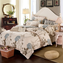 100% Cotton Duvet Cover Sets, Print Floral Pattern Design, Full Queen Size Bedding set(MYMQ)