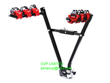 quality car/vehicle bike rack, 3 bike auto truck trailer hitch rack fold-up hitch mount bicycle rear carrier tow ball mount
