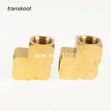 3500 SAE 130238 1/8 1/4 3/8 NPT Female Metal Brass Fitting Barstock 90 Degree Elbow