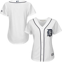MLB Women's Detroit Tigers White Home Cool Base Jersey.(China)