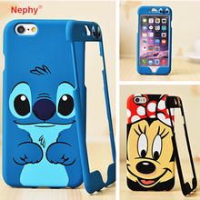 Nephy Mickey Stitch Cartoon 360 Degree Full Protect Fundas Case For iPhone 6 6S Back Cover casing housing Hard Phone Bag Coque(China)