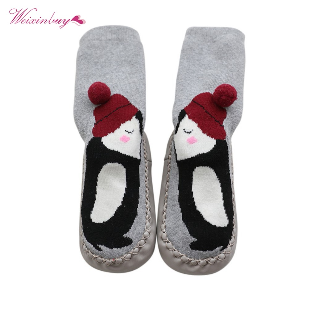 WEIXINBUY Winter Unisex Baby Floor Socks Cute Cartoon Pattern Kid Children Unisex Baby Floor Socks Warm Baby Boy Girl Socks