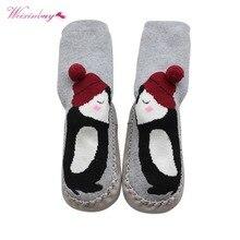 WEIXINBUY Winter Unisex Baby Floor Socks Cute Cartoon Pattern Kid Children Unisex Baby Floor Socks Warm Baby Boy Girl Socks