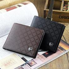 Fashion Men's Leather Wallet Pockets Card Clutch Cente Bifold Purse New 2 Colors  1QBP 4ONP