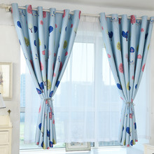 Lovely Love Tree Print Shading Curtain Door Window Curtain Drape Panel Valances For Kids Bedroom Warm High Quality(China)