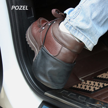 1 Pc Car Shoes Heel Cover Drive Protection Avoid Roots Scuffs Suede Unisex Universal Supplies Accessories Car-styling