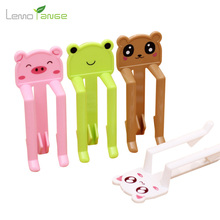 2Pcs Bag Clips Lemorange Cartoon Animal Shaped Cute Garbage Non-slip Fixed Clips Four Colors Home Kitchen Tools TQQ0039