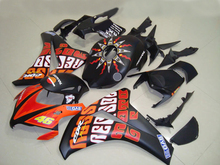 Injection Mold Fairing kit for HONDA CBR1000RR 08 09 CBR1000 CBR1000RR 2008 2009 REPSOL orange black Fairings set+7gifts ZF15