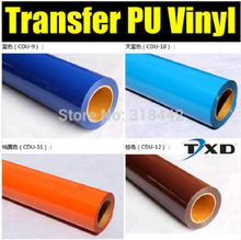 Free shipping PU Heat Transfer Film and Heat Transfer Thermo Film For Garment WITH SIZE:50CMX25M PER ROLL
