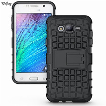 For 2015 Samsung J7 Case J700F Heavy Duty Armor Shockproof Hard Silicone Rugged Rubber Phone Cover For Samsung Galaxy J7 2015 *<
