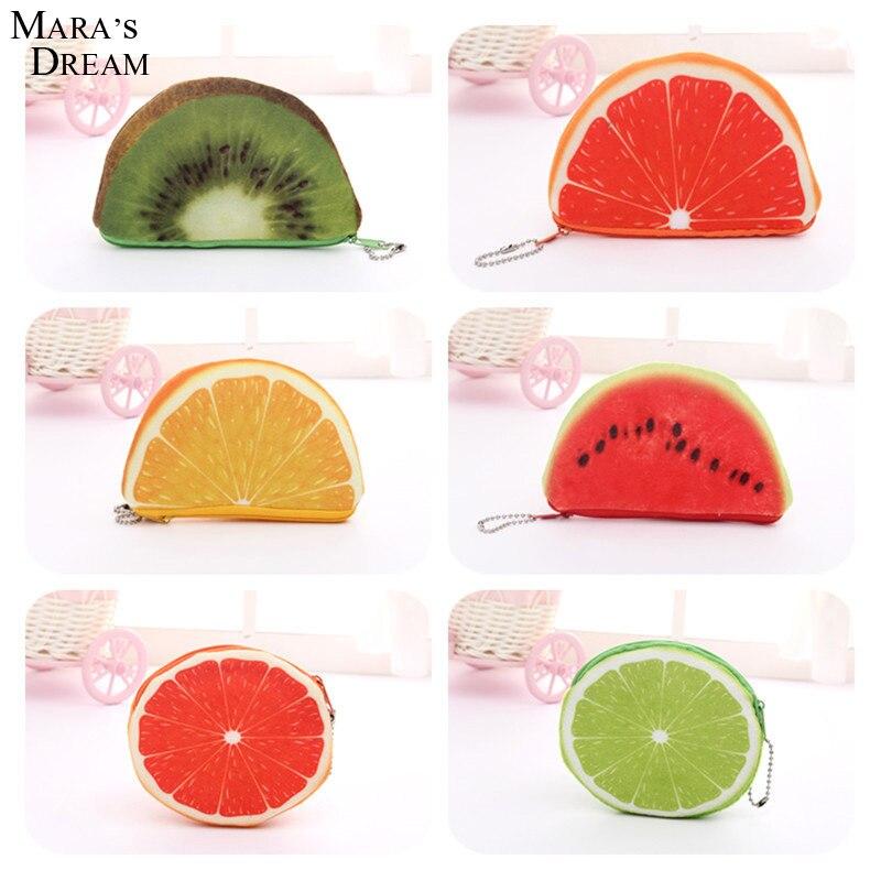 Maras Dream 2016 Women Bag Portable Fruit Shape Canvas Zipper Coin Purse Bag Wallet Pouch with Metal Zipper Keyring<br><br>Aliexpress