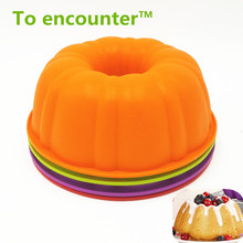 25*9CM 200G 2017 Hot Sell Big and Beautiful Pumpkin Shape Silicone Cake Mold Baking and Pastry Bakeware Maker Mold Tray Baking