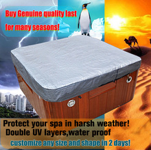 cusomize 220cm.230cm,243cm,380cm,550cm hot tub cover cap,swim spa cover bag, spa sun shine shield, hot tub cover protector